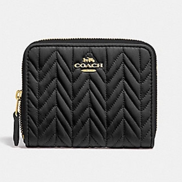 Coach Handbags - AUTHENTIC COACH SMALL ZIP AROUND WALLET (QUILTED)
